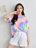Top_ Short Sleeve_ Summer Top_ Multi Color Top_