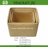 Weaving Storage Hamper Laundry Hamper Bamboo Laundry Basket