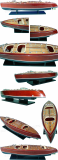 Wooden Model Boat  Chris Craft Cobra Painted