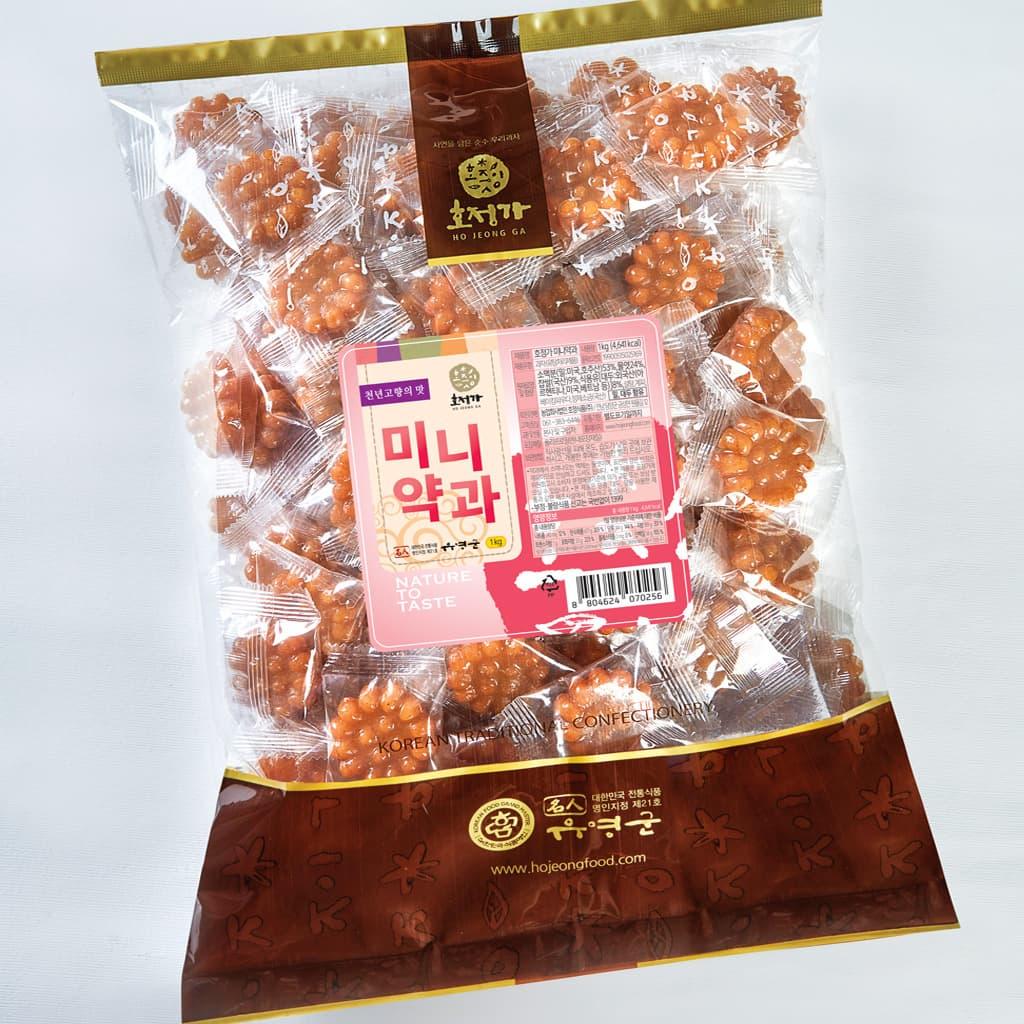 Hojeongga Mini Yakgwa 1pack _Deep_fried Sweet Rice Cake_