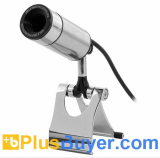 Metal Bullet Design USB Webcam with 2 Megapixel Image Sensor - Plug & Play