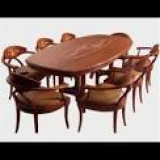 DINING SET THAI GIFT FURNITURE of PEARLS THAI CONTEMPORARY ART _plywood panel 9 PCS_edition of 2560