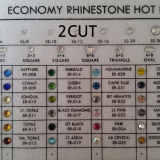 economy rhinestone _2 cut_ hot fix_