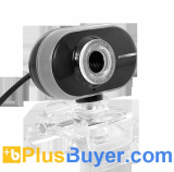 2 Megapixel Webcam with Adjustable Focus and Long Face Design - Black