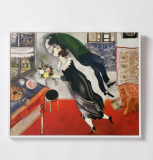 Marc Chagall - The Birthday wood Canvas Frame