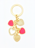 High End Heart Bag Charm Key Ring