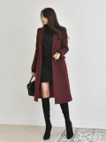 Coat_ Notch_Neck_ Outer_ Long Coat