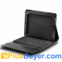Leather Case + Spillproof Wireless Keyboard for iPad 2/3 - Black