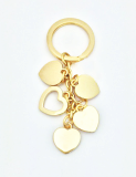 High End Heart Bag Charm Key Ring_back