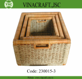 Bamboo Laundry Basket for Bathroom