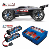 Traxxas 1_10 E_Revo Brushless 4WD RTR EZ_Peak Charger and Tw