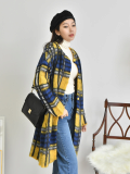 Coat_ Outer_ Check_ Plaid_ New Arrival