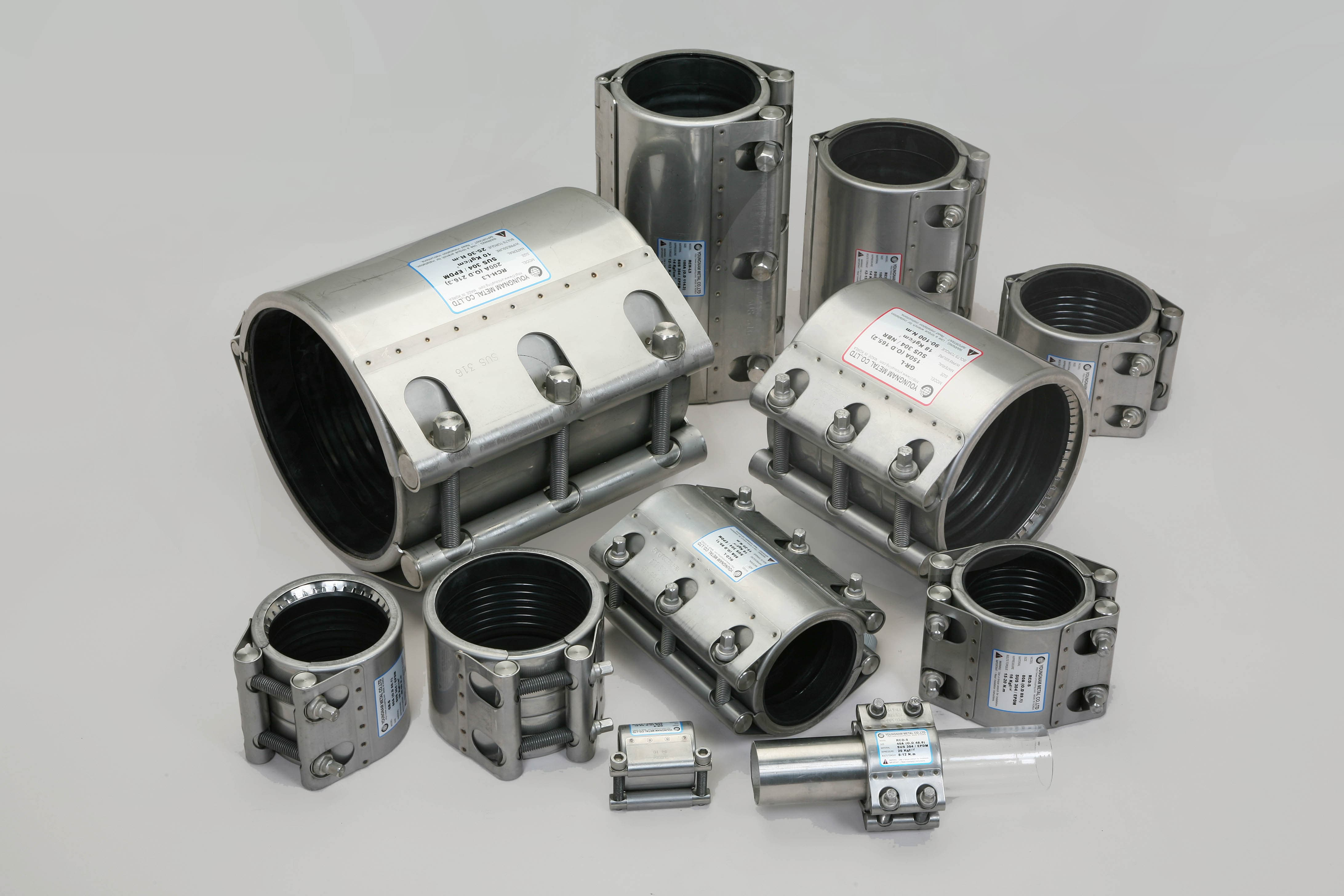 Metal Pipe Coupling : Coupling pipe repair clamp joints from