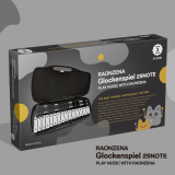 RAONZENA Glockenspiel 25 note black _ white