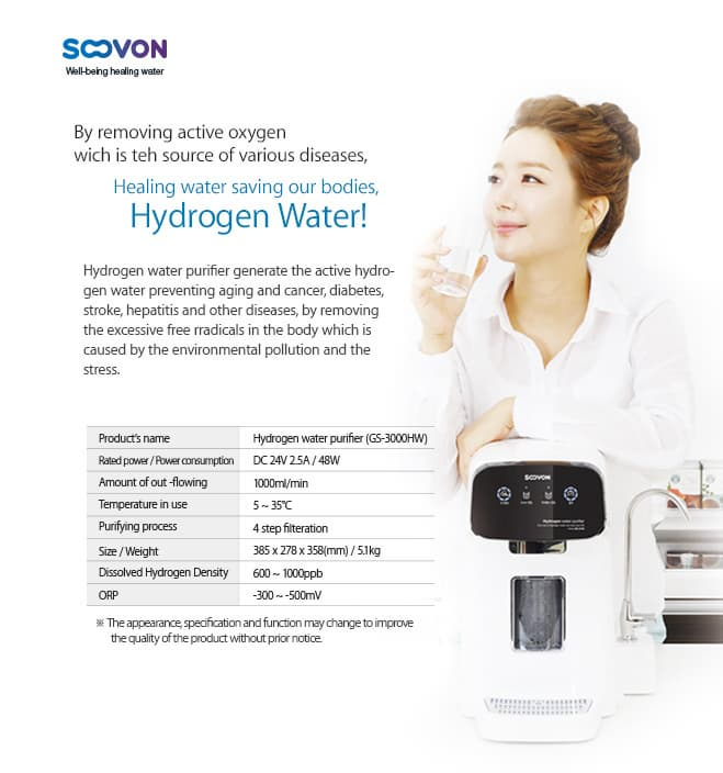 Hydrogen water Purifier