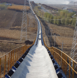 High Performance Long Distance curved Belt Conveyor