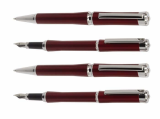 Ball pen+roller pen+fountain pen(like bamboo style,burgundy for color) 8083series