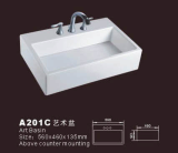 Vessel rectangular sink