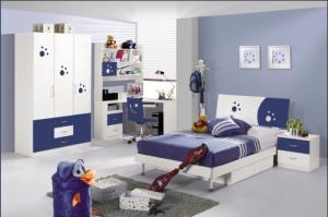 Product Thumnail Image Zoom Blue Mdf Boy Bedroom Furniture Set