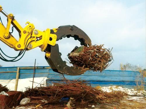 Hydraulic log grapple for 4-50ton excavator | tradekorea