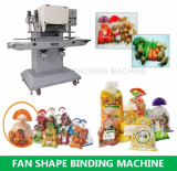 Fan shaped packing machine for cake