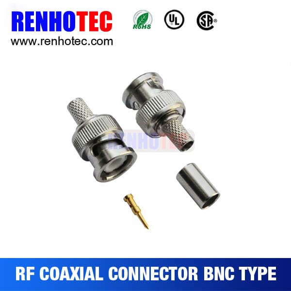 Straight Rf Connector Bnc Connector For Rg6 Rg59 Coaxial Cab Tradekorea - 10+ Can You Connect Rg6 To Rg59? Gif