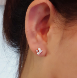 bijou pearl cubic ball piercing