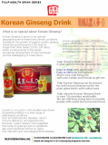 Korean Ginseng Drink (Beverage)