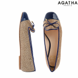 -Agatha- Toe Cap Smoking Flat