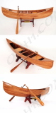 Wooden Model Boat Indian girl canoe