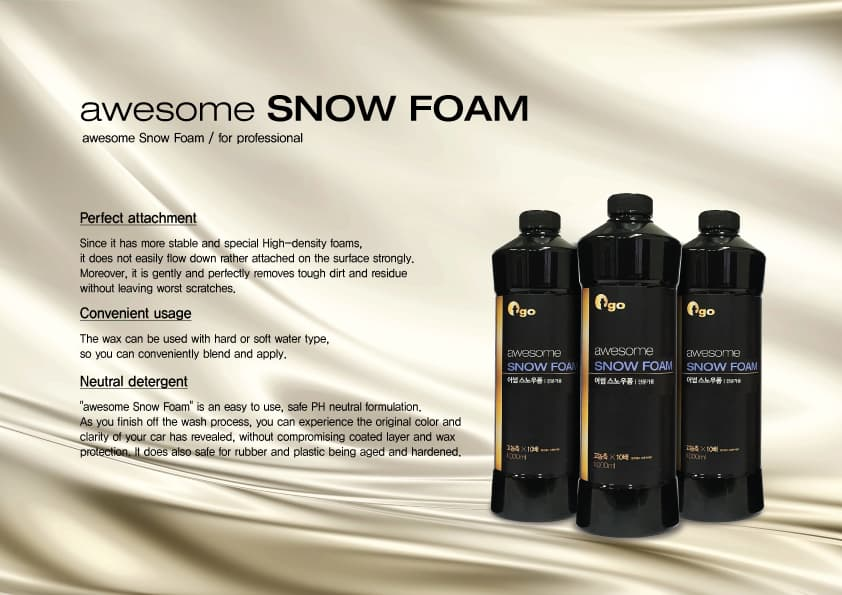 tgo awesome Snow Foam