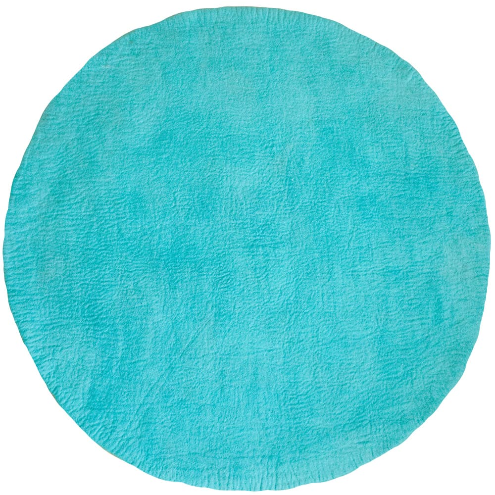One Tone Cerulean Blue Round Felt Rug From Bunt B2b