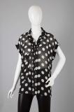 HY14SBL585/Short-sleeve chiffon blouse