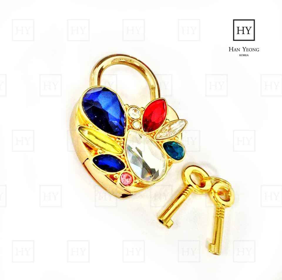 High End Heart Padlock Charm