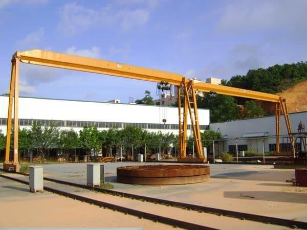 single beam box type bmh electric hoist 5 ton semi portal overhead