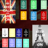 -Keep Calm And Carry On- Canvas Frame