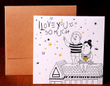 [LPO 014] Letterpress Card, I Love You Card