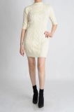 CHAINLINKS KNIT FITTED DRESS _1017090665_