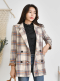 Jarket_ Notched Collar_ Plaid Pattern