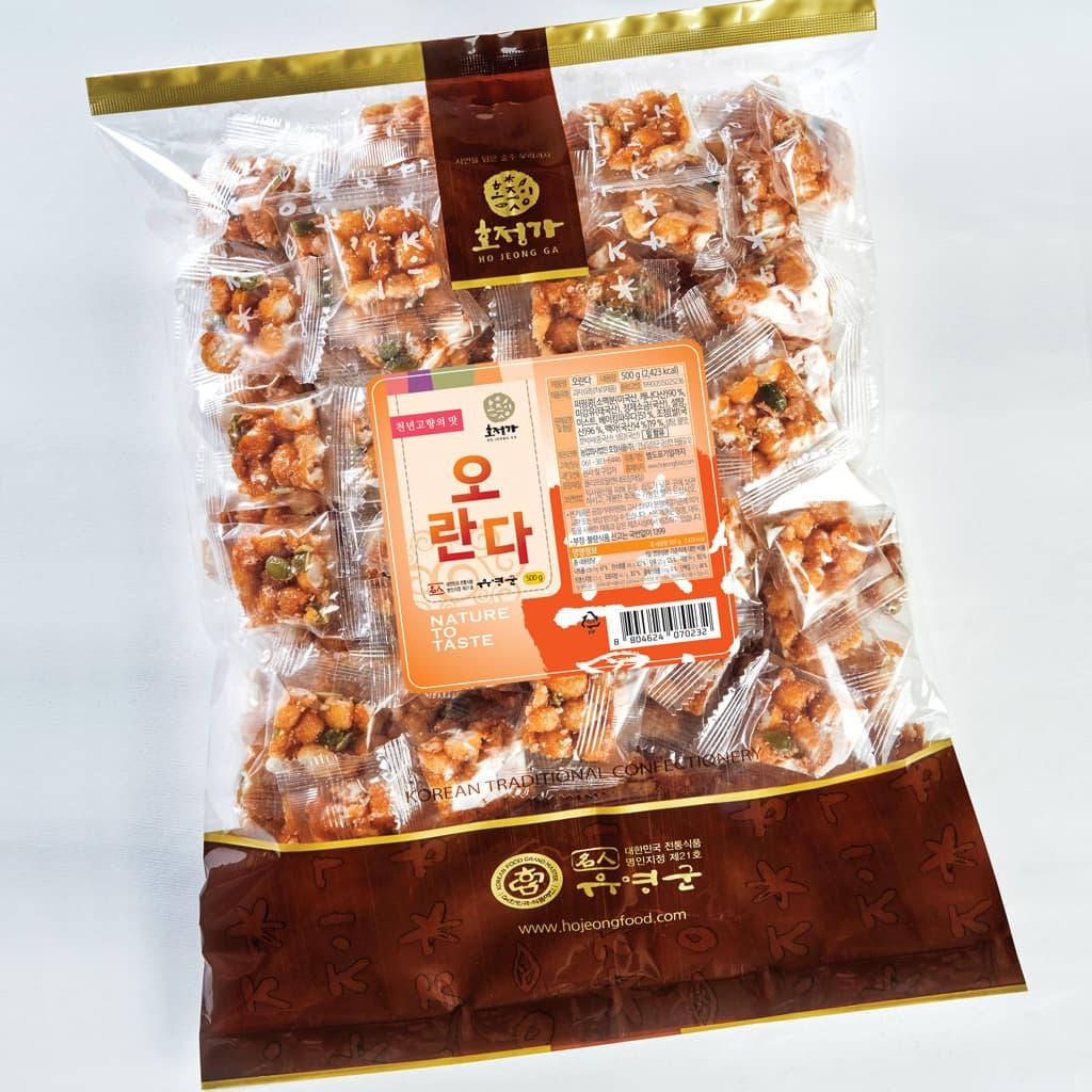 Hojeongga Oranda Kang_jung 500g _Deep_fried Sweet Rice Cake_