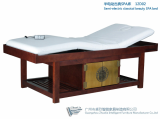semi electric wood spa bed with Goldleaf decoration 12D02