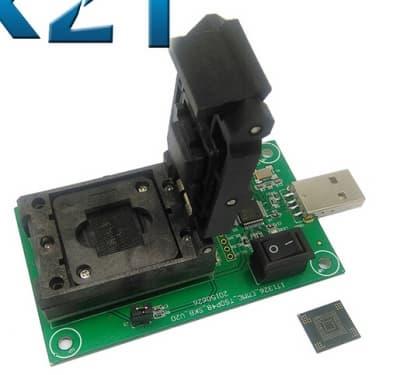 eMMC169 eMMC153 Test Socket Adapter to USB Interface BGA169