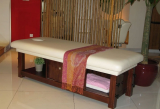 solid wood massage bed, SPA massage bed