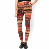 Dress_ Skinny Legging Pants Ethnic Paisley Print for Womens
