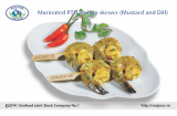 Marinated PTO shrimp skewer (Mustard & Dill)