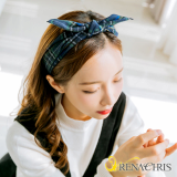 Renachris Check Ribbon headband _hairband_