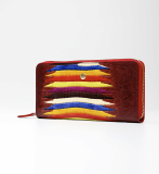Zipper long_wallet_natural cowhide leather