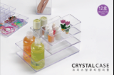 Crystal basket for organizer and storage