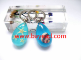 Real Starfish seashell Resin Keychains, Key Ring, Keyring, Ocean Beach Gift,So Cute
