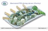 Marinated PTO shrimp skewer Parsley